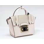 Luxusní růžová kožená kabelka cromia leaver