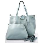 luxusní světle modrá kabelka 2v1 nanci