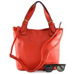 Menší červená kabelka do ruky Beata