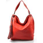 moderní červená kabelka na rameno evo