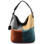 Moderní čtyřbarevná kabelka s šedou Rimini