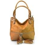 moderní hnědá brown shopper taška charlie