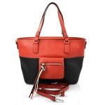 moderní italská kabelka s červenou ally