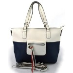 moderní italská kabelka s tmavě modrou ally