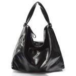 moderní lesklá černá kabelka na rameno erin