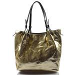 moderní lesklá zlatá kabelka na rameno star