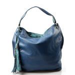 moderní modrá kabelka na rameno evo
