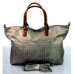 Moderní velká šedo stříbrná kabelka marisa
