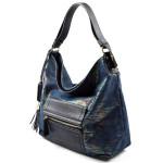 modrá duhová lesklá moderní kabelka Design