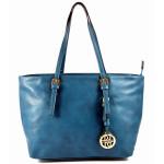 Modrá kabelka na rameno Cristina