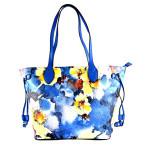 Modrá květinová kabelka na rameno Vilien