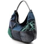 modrá luxusní kabelka Italien
