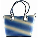 Modro bílá lesklá kabelka Caprine