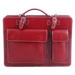 pánská červená bordó kožená aktovka George