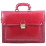 pánská kožená červená bordó aktovka Elvin