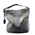 šedá designová filcová kabelka Sandrine