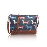 Small Crossbody Dog Mania – modré