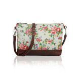 Small Crossbody Vintage Flowers – bílá