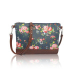 Small Crossbody Vintage Flowers – modrá