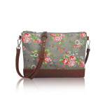 Small Crossbody Vintage Flowers – šedá
