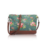 Small Crossbody Vintage Flowers – zelená