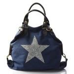 stylová moderní modrá taška na rameno military two