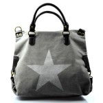 stylová moderní šedá taška na rameno military