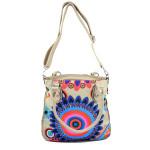 Světle béžová barevná kabelka Snicky