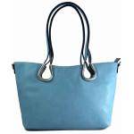 Světle modrá kabelka přes rameno Lana / Velké kabelky