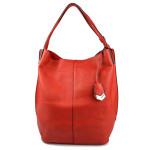 Sytě červená kabelka tauris