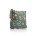 Taška Vintage Flowers – zelená