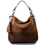 tmavě hnědá designová filcová kabelka Julia