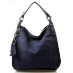 tmavě modrá designová filcová kabelka Julia