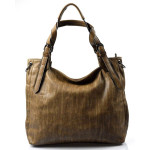 Velká moderní hnědá khaki shopper taška Electra