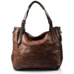 Velká moderní tmavě mahagonově hnědá shopper taška Electra