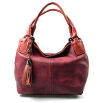 vínová až červená bordó moderní kabelka Damien
